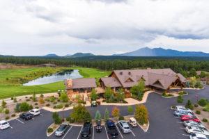 Aerial view of the Flagstaff Ranch golf club in Flagstaff, AZ.