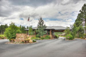 The Flagstaff Ranch golf club entrance in Flagstaff, AZ.