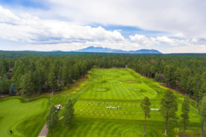 Aerial photo of the Forest Highlands country club in Flagstaff, AZ.