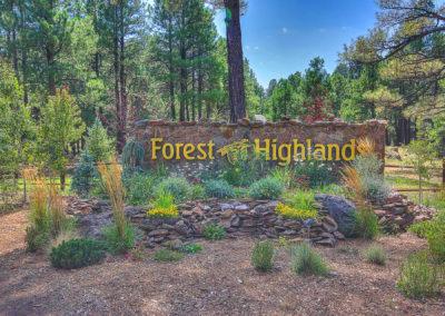 Forest Highlands Entrance