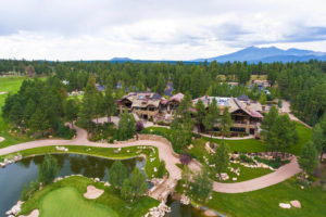 Aerial photo of Pine Canyon country club in Flagstaff, AZ.