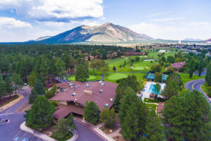 An aerial view of Continental Country Club in Flagstaff, AZ.