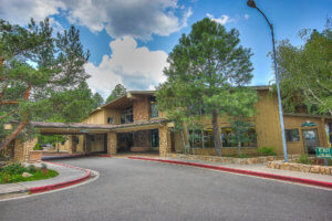 The outside of the Continental Country Club building in Flagstaff, AZ.