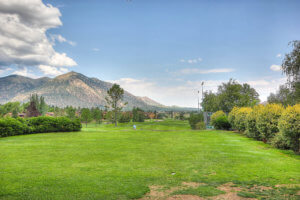 A portion of the golf course at the Continental Country Club in Flagstaff, AZ.