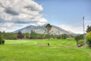 Part of the golf course at the Countinental Country Club in Flagstaff, AZ.