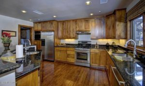 Kitchen in a Creekside Village home in the Pine Canyon country club in Flagstaff, AZ.