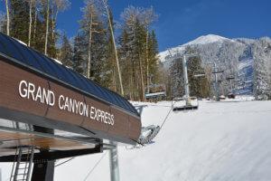 Picture of a ski lift at the Arizona Snowbowl Ski Resort in Flagstaff, AZ.