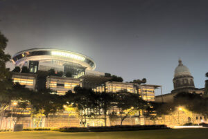 Supreme Court of Singapore at Night