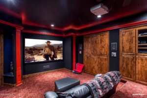 Home theater room in 3460 S Del Aire Ct Flagstaff AZ 86005