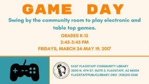 Flagstaff Game Day advertisement.