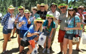 Festival goers at Flagstaff's Made in the Shade 2017 beer tasting festival.